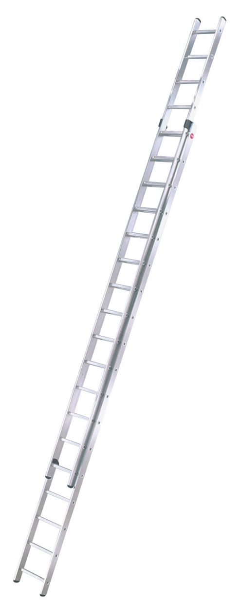Hailo 951cm ProfiStep Duo 2-Section Aluminium Extension Ladder