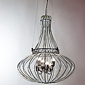 Siru Vecchia Murano Six Light Pendant - Crystal Smooth