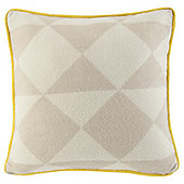 Knitted Geometic Yellow Piping Cushion