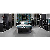 Welcome Furniture Knightsbridge 3 Drawer Deep Chest - Black - Black