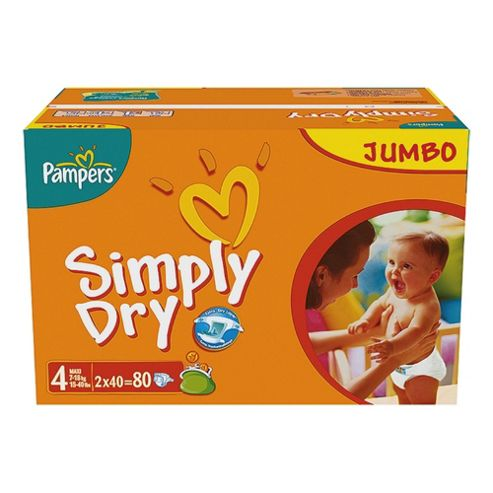 Pampers Simply Dry Jumbo Pack Maxi 80