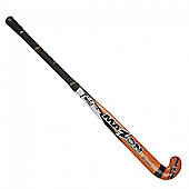 "Mazon Jnr 500 Hockey Stick Lightweight Wood Core Black Handle 35"" Orange"