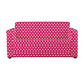Children's Sofa Bed - Pink Hearts