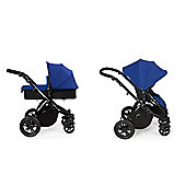 ickle bubba Stomp V2 2 in1 Pram - Blue (Black Chassis)