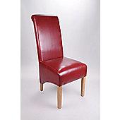 Shankar Enterprises Krista Dining Chair (Set of 2) - Burgundy