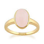 Gemondo Rose Quartz 'Gala' Pastel Ring in 9ct Yellow Gold Plated Sterling Silver