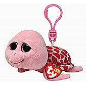 TY Beanie Boo Key Clip Turtle Pink Shelby