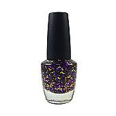 Pretty Glitter Pop Nail Polish-Purple & Gold