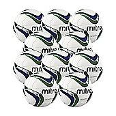 Mitre Ultimatch Footballs, 10 Pack, Size 4