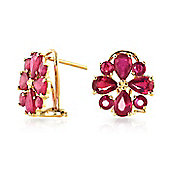 QP Jewellers 4.85ct Ruby Rafflesia Earrings in 14K Gold
