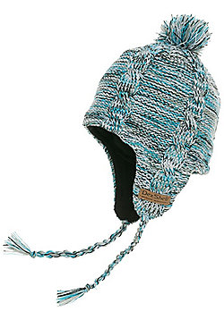 DexShell Earflap Beanie Hat - Sky Heather - Multi