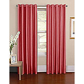 Venezia Ready Made Pencil Pleat Curtains - Fully Lined - 6 Colours Available - Red