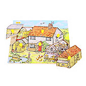 Bigjigs Toys BJ064 Lift and Look Puzzle Farmhouse