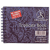 Challenge Triplicate Book Carbonless Wirebound Ruled 105x130mm Ref 100080472 [Pack 5]