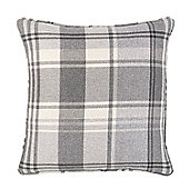 Julian Charles Inverness Silver Luxury Filled Square Cushion