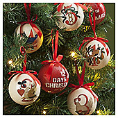 12 Days of Christmas Baubles, 14 pack