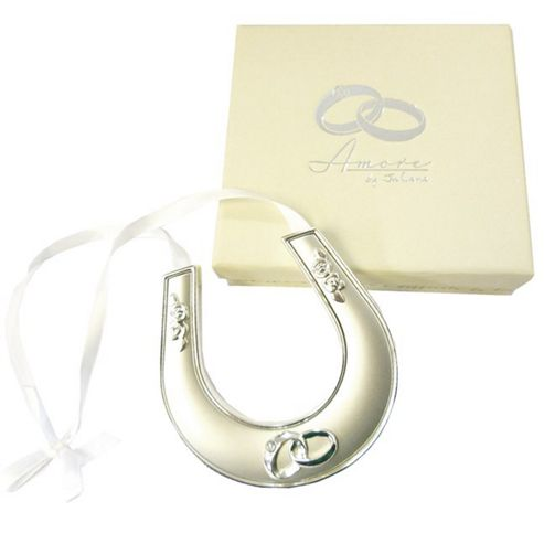 Silver Plated Wedding Horseshoe