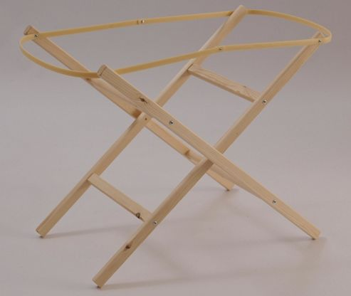 Clair de lune Woden Folding Moses Basket Stand in Natural