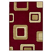 Think Rugs Diamond Red Budget Rug - 60 cm x 115 cm (2 ft x 3 ft 9 in)