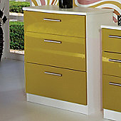 Welcome Furniture Knightsbridge 3 Drawer Chest - White - Olive