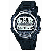 Casio Sports Mens Resin Chronograph Stopwatch World time Watch W-756-1AVES