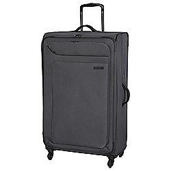 IT Luggage Megalite 4-Wheel Suitcase, Charcoal Large