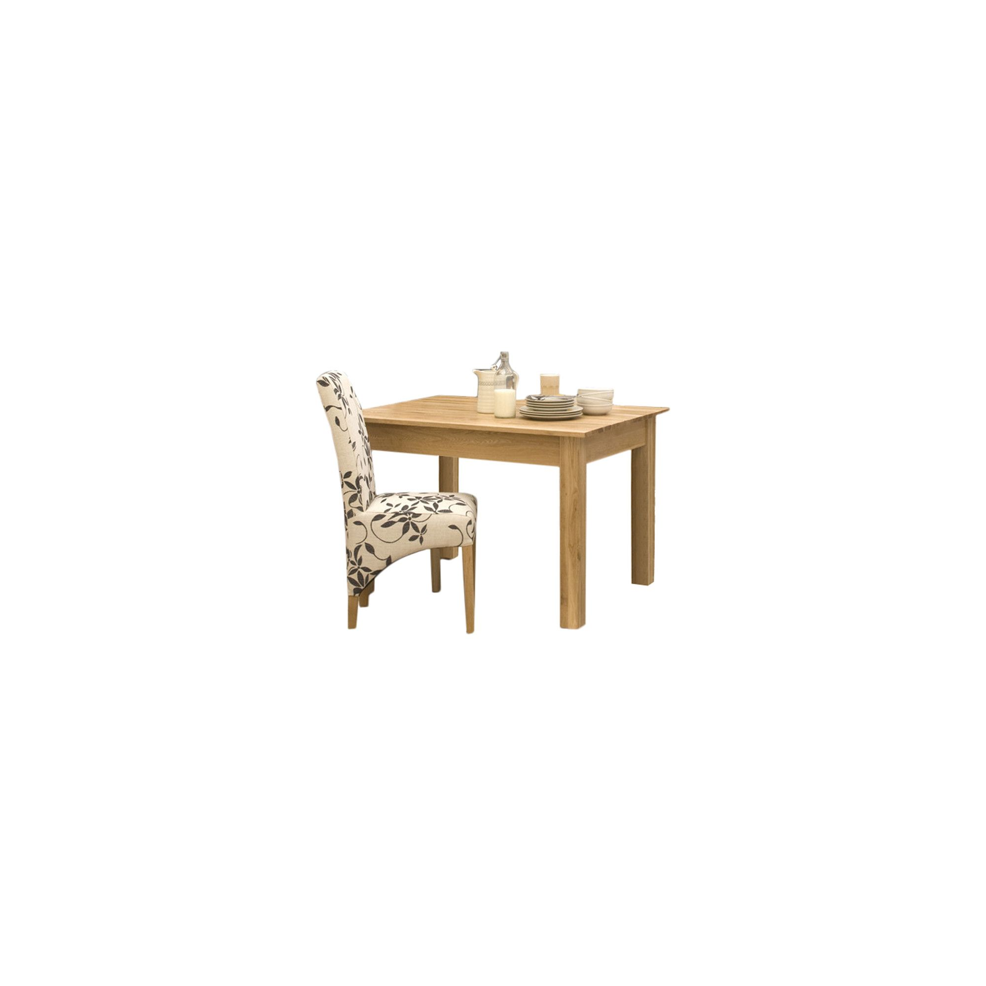 Baumhaus Mobel Oak Small Solid Oak Dining Table - 90cm