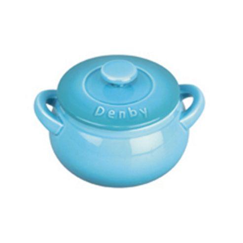 Denby Mini Ceramic Casserole Dish, Azure Blue