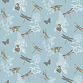 Enchanted Wings Wallpaper - Teal - 664902