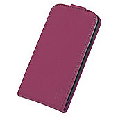 Tortoise™ Genuine Leather Flip Case Samsung Galaxy S4 Mini Pink.