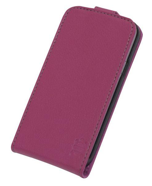 "Tortoiseâ""¢ Genuine Leather Flip Case Samsung Galaxy S4 Mini Pink"