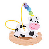 Bigjigs Toys BB072 Rocking Bead Frame (Cow)