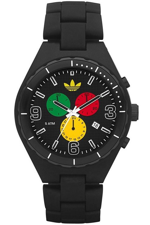 Adidas Unisex Sports Black Resin Strap Watch ADH2630