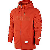 2014-15 Holland Nike AW77 Full Zip Authentic Hoody (Orange) - Orange