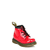 Dr Martens Infant Red Brooklee B PatentLeather Boots - Red