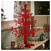 Tesco Red Laser Cut Tree
