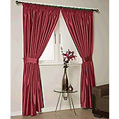 Como Ready Made Lined Curtains - Red