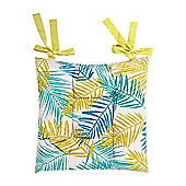 Linea Palm Leaves Chair Pad