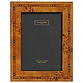 Addison Ross Marquetry Photo Frame with Star Fibre Back in Brown - 8 in x 10 in