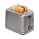 Brabantia BBEK1021-P 2 Slice Toaster - Platinum & Brushed Stainless Steel