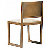 Andreu World Zisa Side Chair - Oak Board - Fabric Divina-White