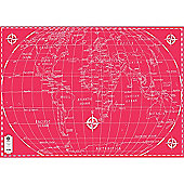 Michael A Hill Map Wrap - World