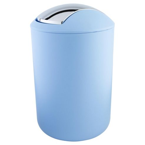 Buy tesco basics 7l plastic bin blue from our bathroom for Blue bathroom bin