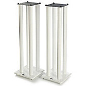 Atacama Speaker Stands in White - Height 1000mm