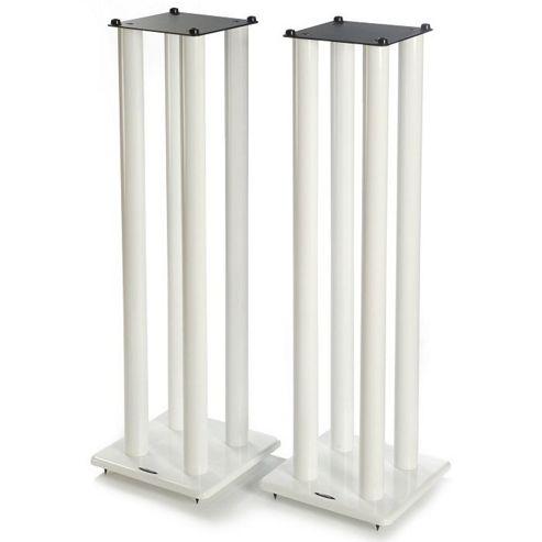 Atacama Speaker Stands in White - Height 1000mm
