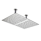 Hudson Reed Rectangular Ceiling Mounted Shower Head, 600mm x 400mm, Chrome
