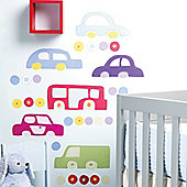 Cartoon Cars Children's Wall Stickers