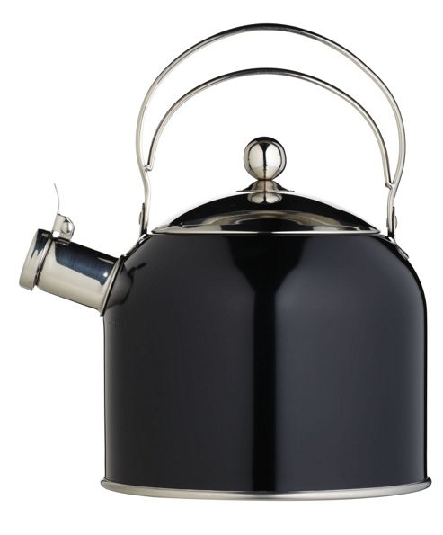 Kitchen Craft Classic Collection Traditional Whistling Kettle 2.3 Litres (4.3 pints) Black
