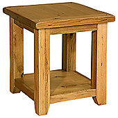 Kelburn Furniture Bordeaux Lamp Table in Medium Oak Stain and Satin Lacquer