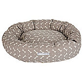 Grey Bone Linen Donut Bed